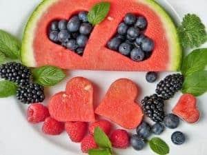 Watermelon blueberries raspberries