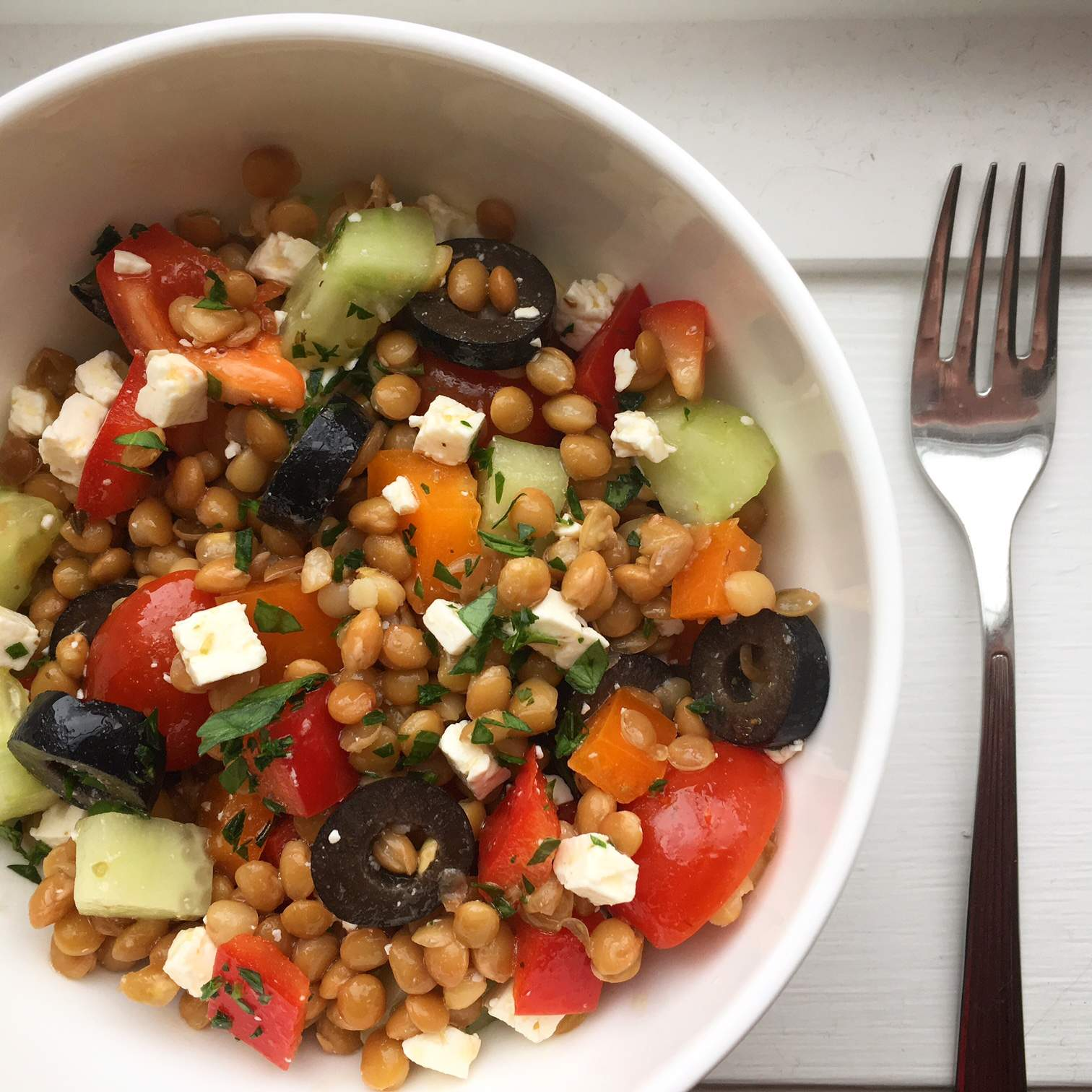 Greek Lentil Salad recipe