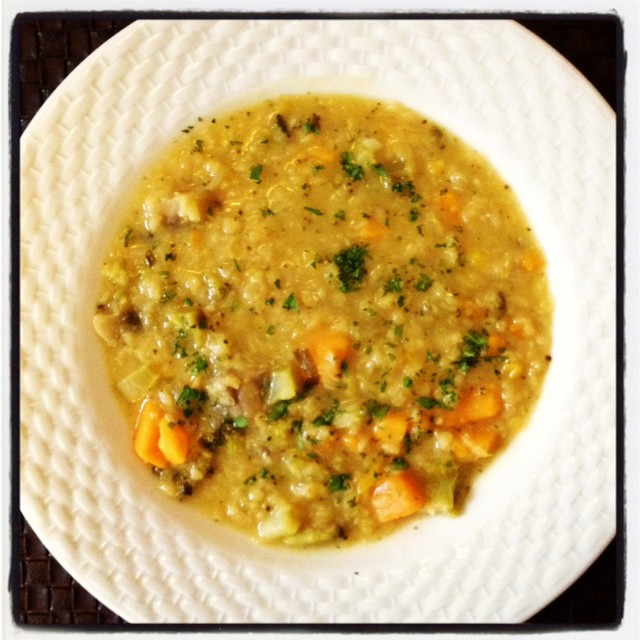Ginger and Cilantro Red Lentil Soup - Dietetic Directions ...