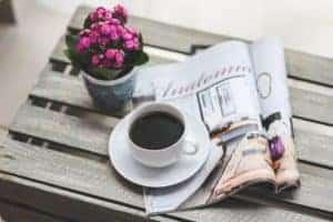 morning coffee newspaper