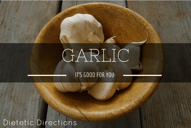 Garlic it's good for you