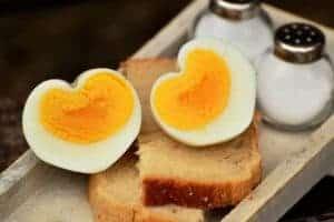 Eggs heart shape