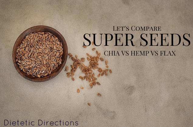 Compare super seeds Chia hemp flax