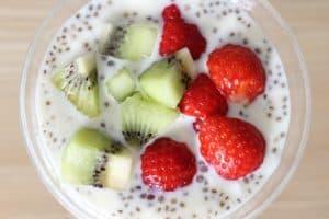 Chia seeds yogurt