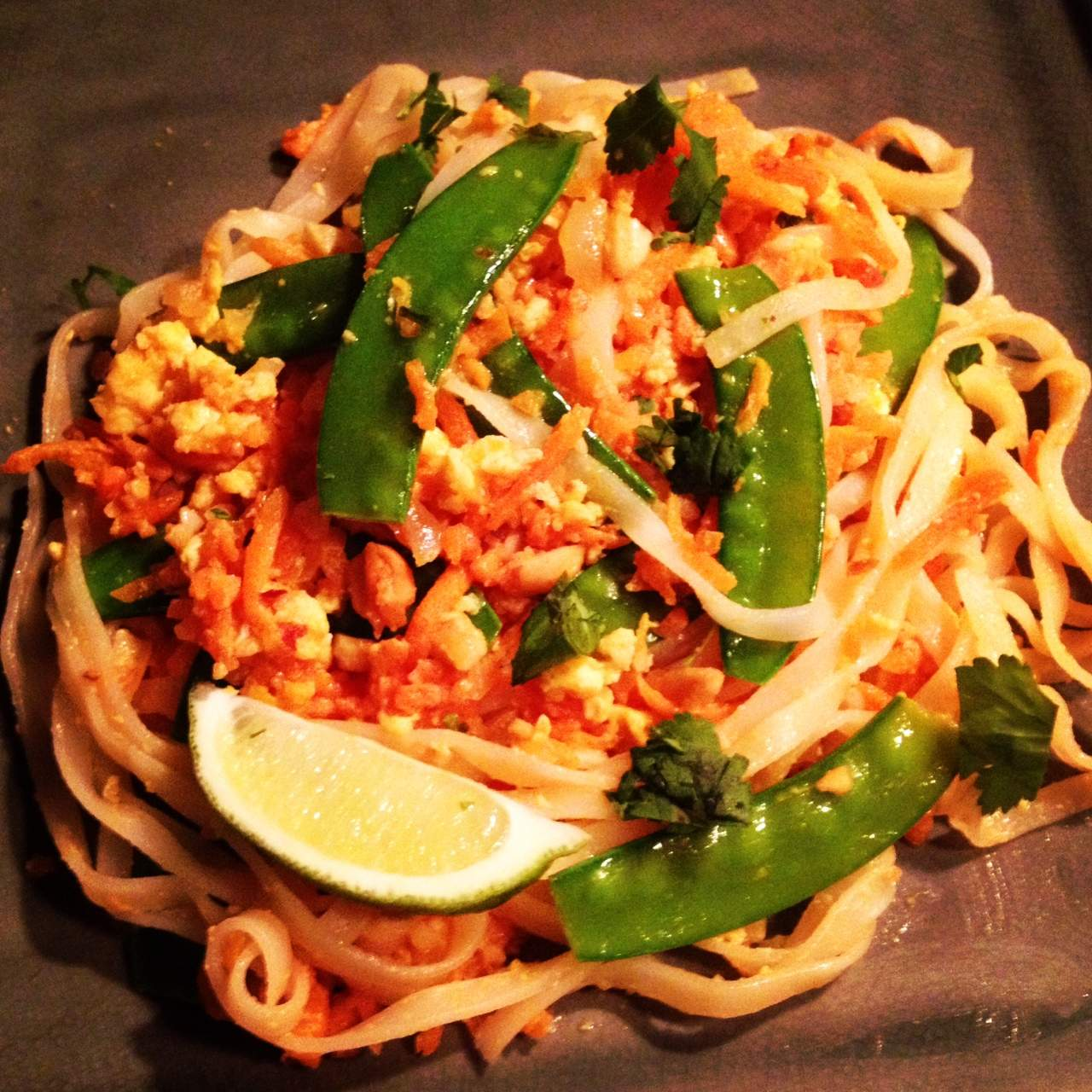 Küchenchaotin Pad Thai ~ vegetarian pad thai dietetic directions dietitian and nutritionist in kitchener waterloo