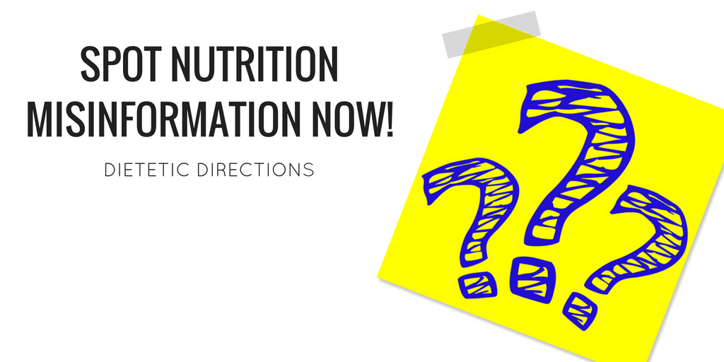 Stop the nutrition misinformation now!