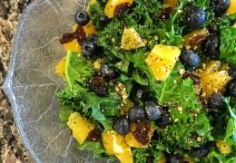 Zesty Orange & Blueberry Kale Salad with Chia