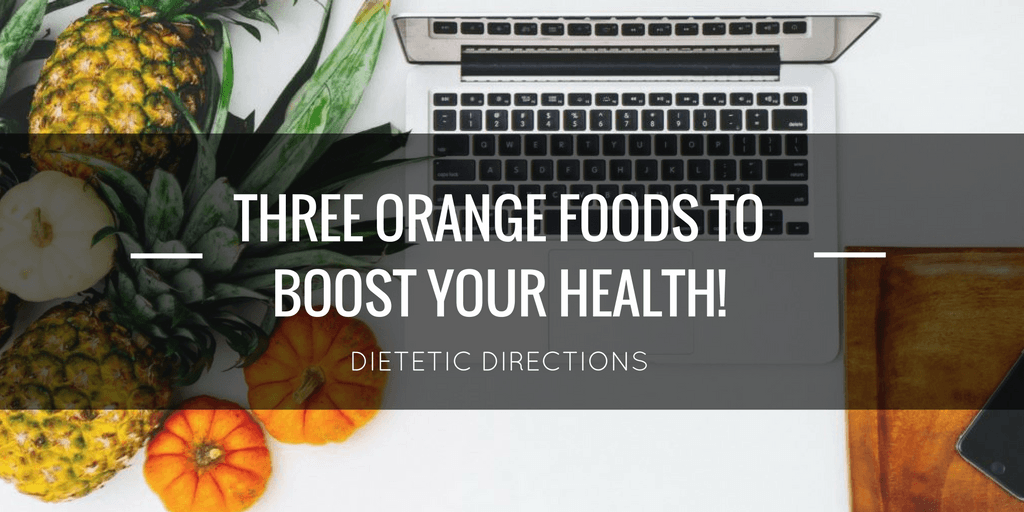 three healthy orange foods