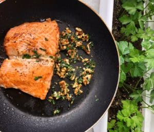 Salmon with Gemolata