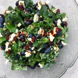blueberry mint feta salad