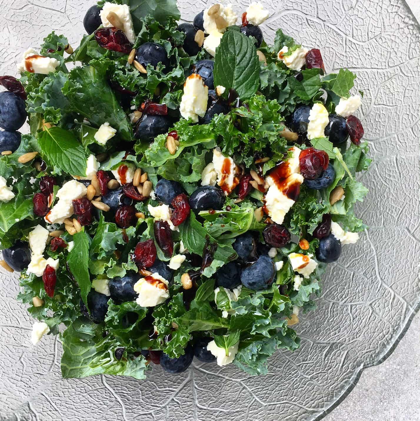 blueberry mint feta salad