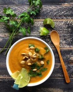 Sweet potato pear soup