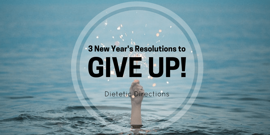 New Year's Resolution to give up