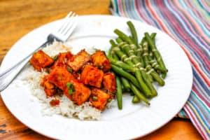 Tofu dinner