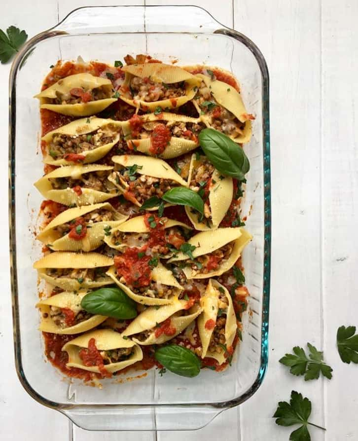 Stuffed Shells with Lentils