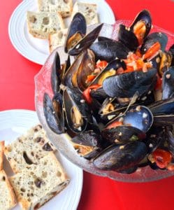 White Wine Mussels
