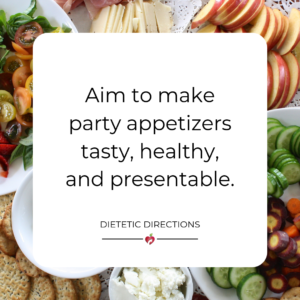 Healthy Entertaining Appetizers Canva image food typographyHealthy Entertaining Appetizers Canva image food typography