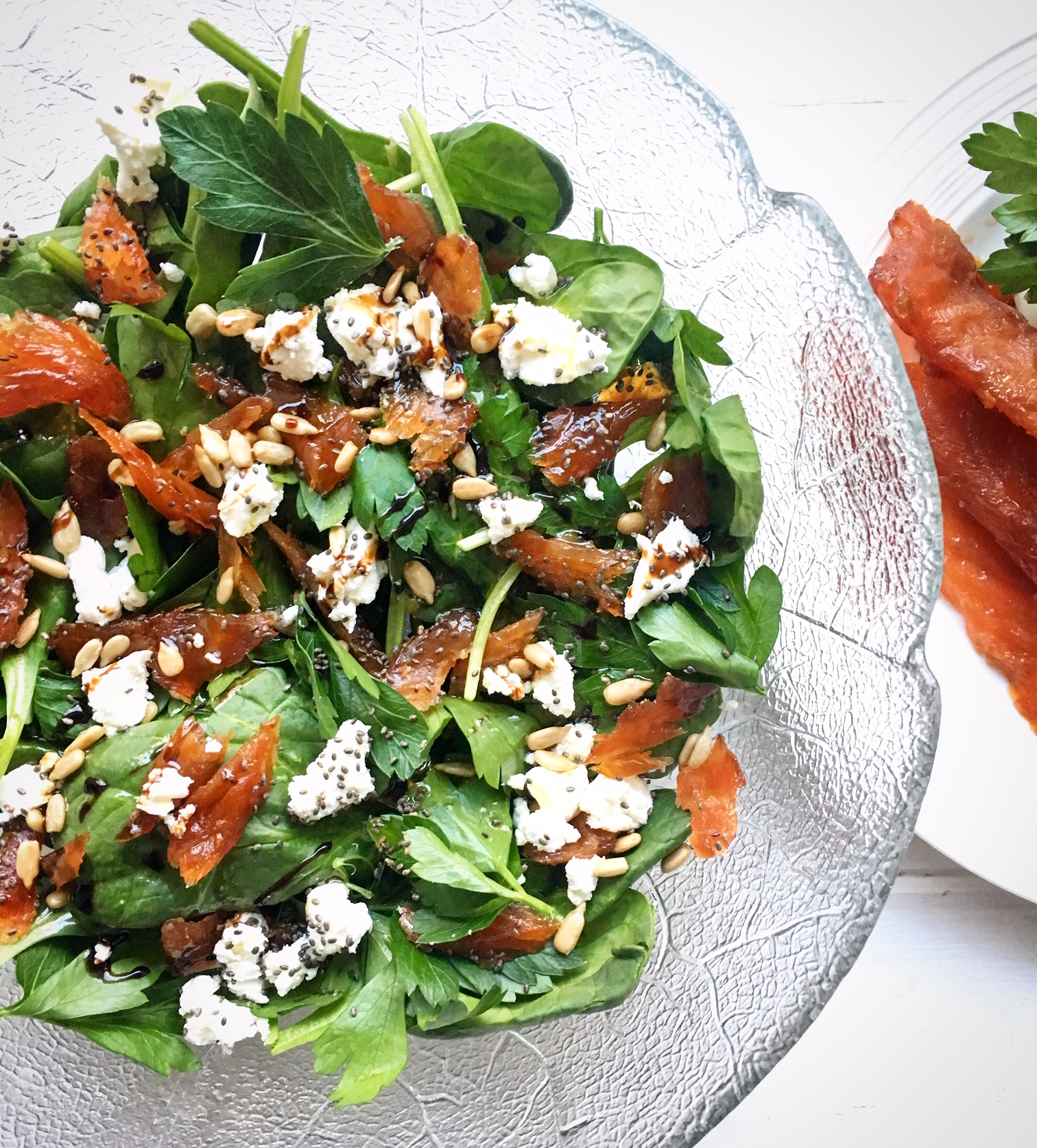 Candied Salmon & Goat Cheese Salad