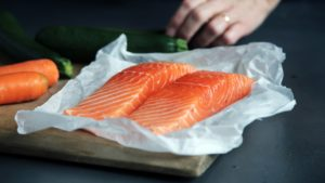 Raw salmon Healthy Entertaining Appetizers