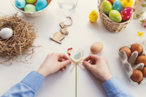 Easter decorations cute chicken rabbit egg design DIY Healthy Entertaining Appetizers