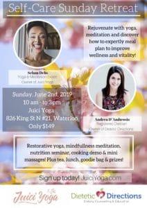 Self-care Sunday summer wellness nutrition yoga retreat workshop