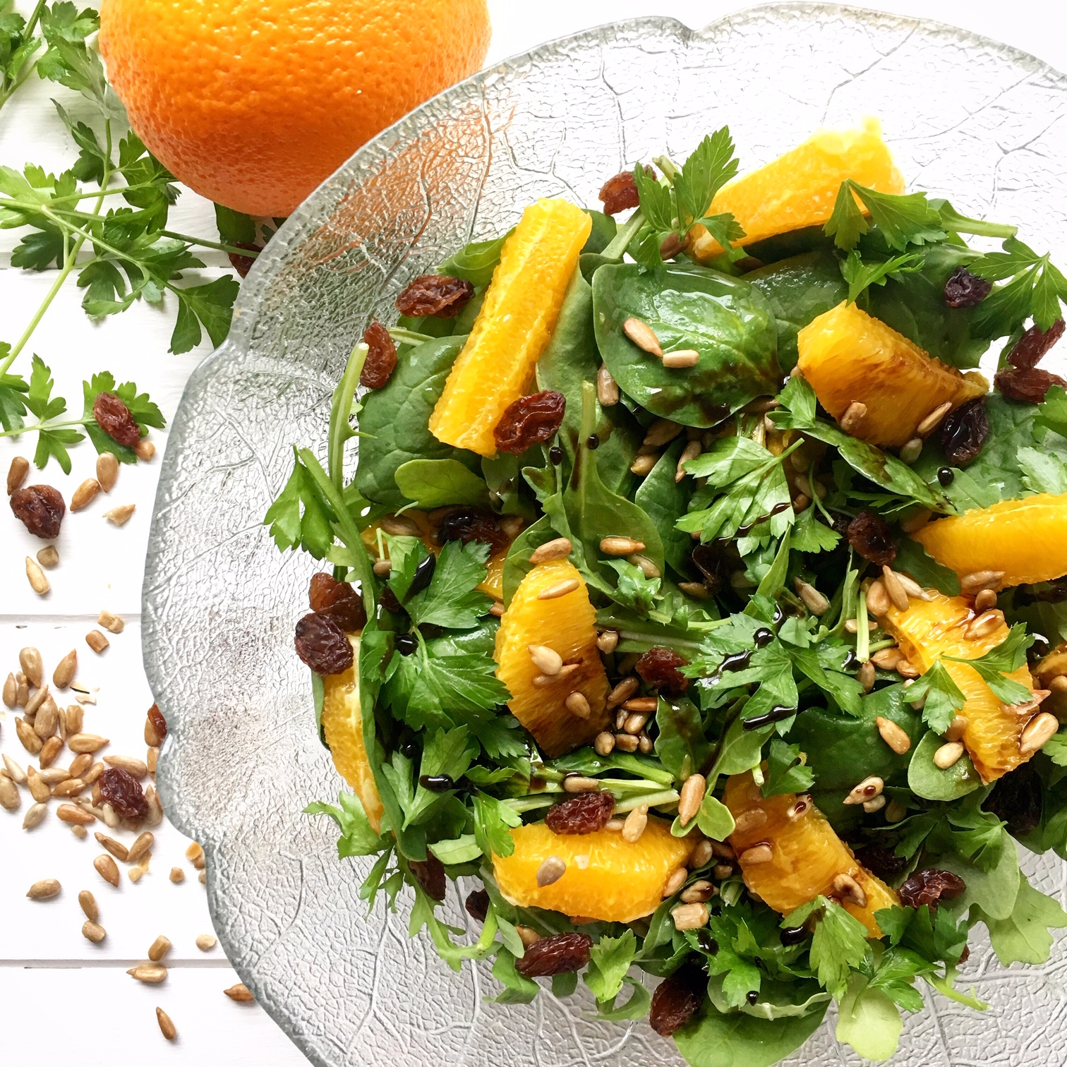 Orange, Parsley & Sunflower Salad