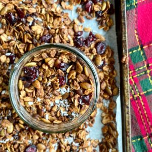 homemade coconut christmas granola