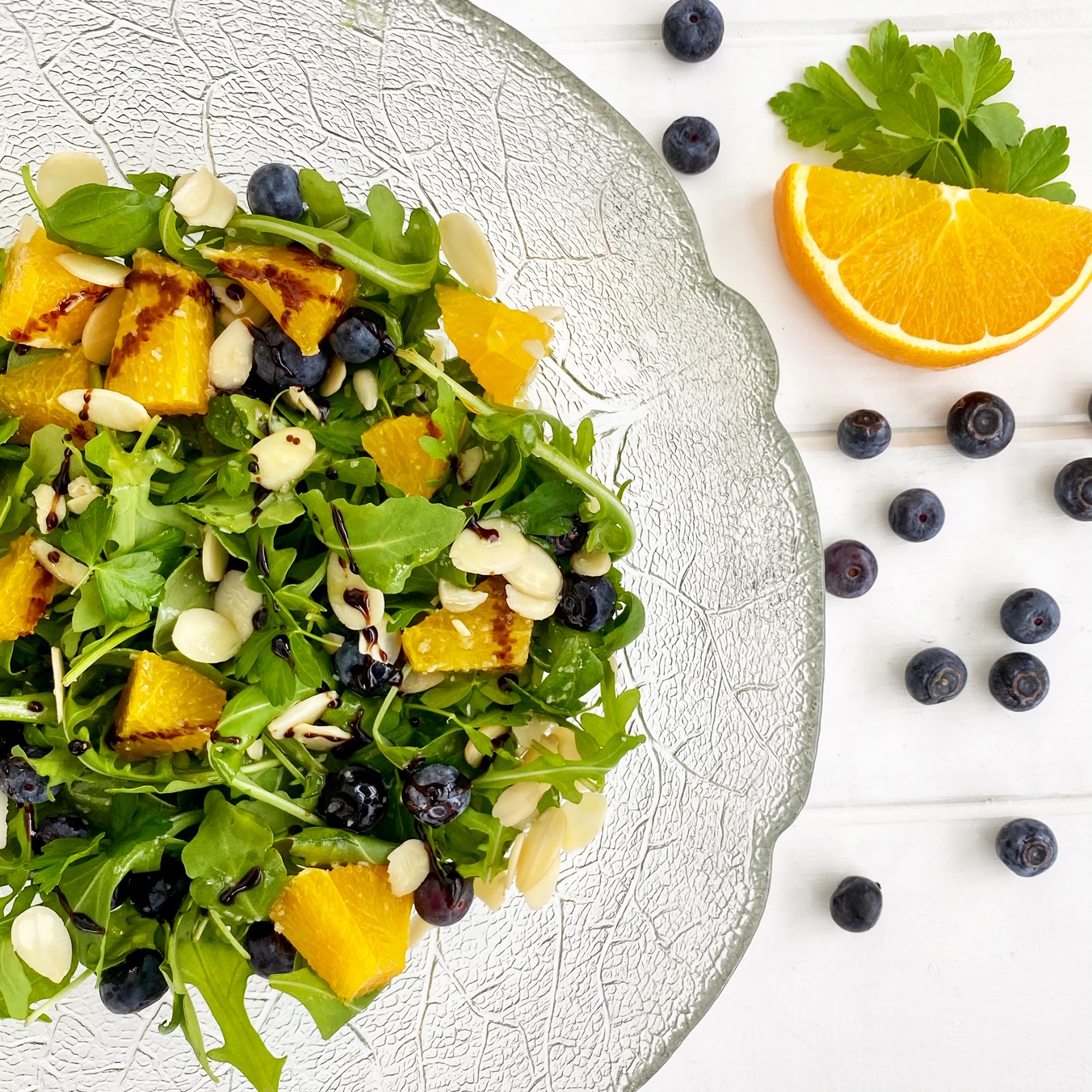 Almond Arugula Orange Salad