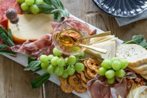 charcuterie grapes cheese